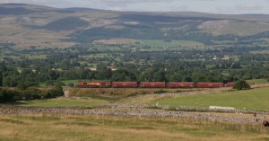 EWS Freight Train on Settle-Carlisle Railway