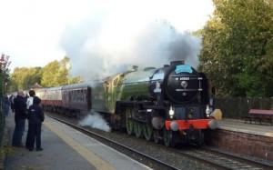 Tornado Steam Train at Armathwaite Station