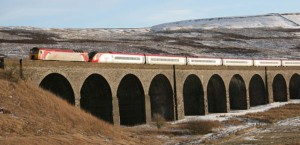 Virgin Train on Settle-Carlisle Railway