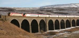 Virgin Train on Settle-Carlisle Railway